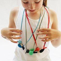 DIY wooden bead bird necklaces!