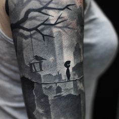 Limbo (game) tattoo by Alexey Tompson