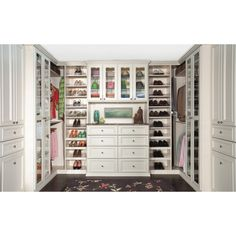 Closet idea, I love that it has space to move around