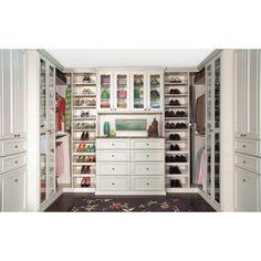 Closet idea, I love that it has space to move around