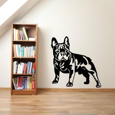FRENCH BULLDOG DOG vinyl wall art sticker decal home decor //Price: $21.57 & FREE Shipping //     #frenchbulldog #bulldog #bulldoglovers