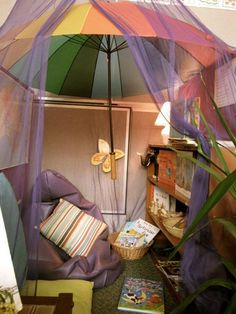"Cosy reading area at St Liborius Primary School. image shared by Walker Learning Approach: Personalised Learning ("",)"