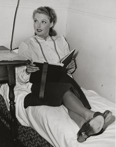 Ann Sheridan, between takes