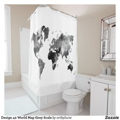 Design 42 World Map Grey Scale