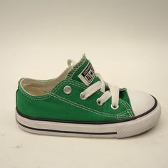 d9dc214f0966 New Converse Infant Chuck Taylor All Stars Low Top Green Sneaker Shoes Size  8