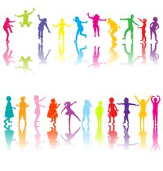 Chilldren silhouettes vector 512865 - by hibrida13 on VectorStock®