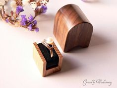 Valentine's day  engagement ring box  handmade by Woodstorming