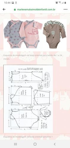 Baby Girl Dress Patterns, Baby Clothes Patterns, Baby Patterns, Baby Dress, Sewing For Kids, Baby Sewing, Sewing Collars, Baby Layette, How To Make Clothes