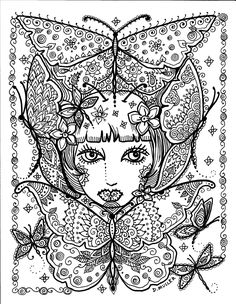 Instant Download Butterfly and Dragonfly Art to by ChubbyMermaid