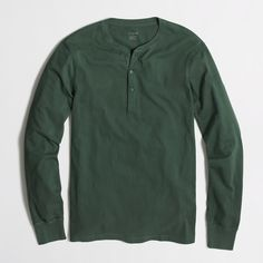 Factory cotton jersey henley : Long Sleeve | J.Crew Factory