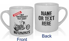 Excited to share the latest addition to my #etsy shop: Motorbike Chopper Off-Road Road Racing Funny Motocross Personalised MX Dirt Bike Biking Mug - Personalised with a message. https://etsy.me/2GMqxLg #housewares #kitchen #funnymug #coffeemug #motorbike #motocross #di