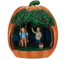 Pumpkin with Illuminated Scene Inside by Valerie