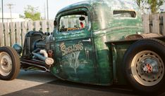 Rat Rod Pickup, Ford Pickup Trucks, Chevrolet Trucks, Hot Rod Trucks, Old Trucks, Muscle Truck, Real Steel, Baby Animals Pictures, Old Fords