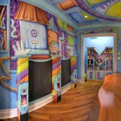Candy Wonderland Playroom and Mural and Luxury Baby Cribs in Baby Furniture : New Baby Furniture at PoshTots