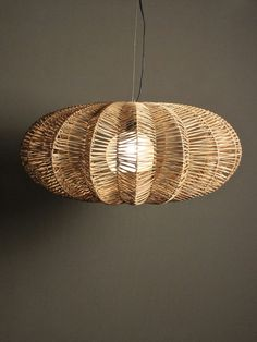 jameson lamp | RedInFred Natural fiber pendant light