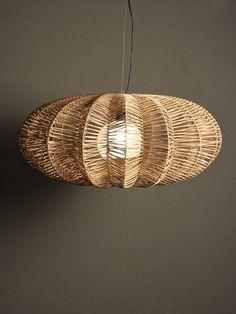 jameson lamp | RedInFred Natural fiber pendant light