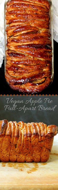Vegan Apple Pie Pull-Apart Bread - HolyCowVegan.net
