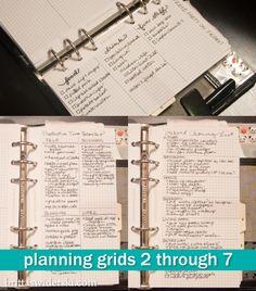 Filofax Inserts - Planning Grids Set by Britta Swiderski