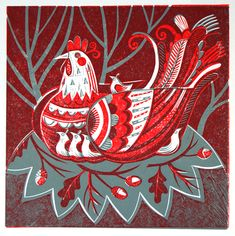 Hen and Chicks- Lino Print £60.00