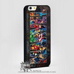 Marvel Logo Iron Man Spiderman Thor Hulk Adulti Bambini For Apple, Iphone, Ipod, Samsung Galaxy Case
