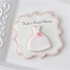 gallery of plaque cookies   Eva Mini Gown Cookie Plaque