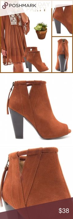 Spotted while shopping on Poshmark: Faux Suede Ankle Booties! #poshmark #fashion #shopping #style #Qupid #Shoes