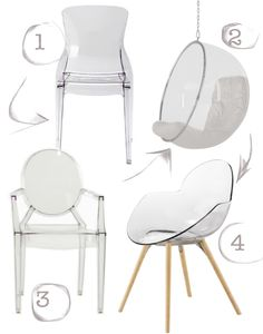 Pasha by Pedrali transparent wing back chair ThingsMatter