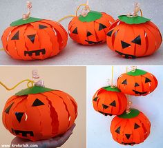 Pumpkin lanterns for Halloween - Aiden would love to make these