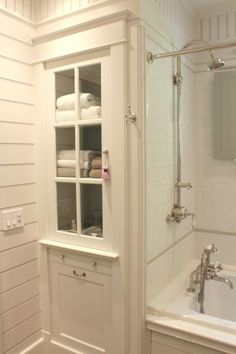 White Bathroom Linen Cabinet - Foter