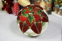 Купить Коллекционная ёлочная игрушка Шар (2) - комбинированный, шар, Новый Год, новогодний подарок