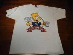 xu fraternity bart simpson radical muskie t shirt mens xl wheres the keg vintage #Simpson #GraphicTee