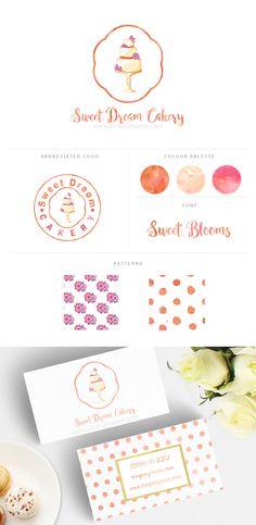 Branding for sale! Branding Ideas, Identity Branding, Corporate Identity, Personal Branding, Branding Design, Logo Design, Graphic Design, Watercolor Business Cards, Watercolor Logo