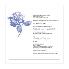 Hydrangea Happiness Wedding Invitation