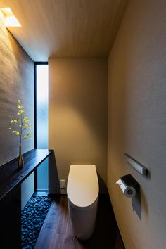 Japanese Toilet: A bathroom created by the sqool first-class architect office. ,original- Japanese Toilet: A bathroom created by the sqool first-class architect office. Serene Bathroom, Modern Bathroom, Small Bathroom, Bathroom Styling, Bathroom Interior Design, Minimalist Toilets, Japanese Bathroom, Toilet Room, Toilet Design