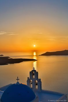 Sunset church, Firostefani, Santorini