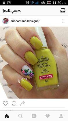 Flower Nail Art, Great Nails, Beautiful Nail Art, Short Nails, Triangles, Hair And Nails, Nail Colors, Nail Designs, Beauty
