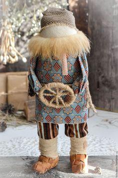 Купить кукла-оберег Спиридон-солнцеворот. - синий, народная кукла, народная традиция, спиридон-солнцеворот