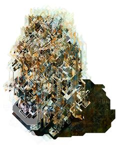 Larisa Bulibasa reimagines London's financial district as labyrinth City Collage, 3d Collage, Axonometric Drawing, Bartlett School Of Architecture, Black Balloons, Urban Fabric, Ancient Buildings, Architecture Drawings, Architecture Design