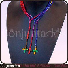 Este collar decenario multicolor rojo, verde, amarillo, morado y azul es combinable con cualquier camisa o camiseta. ¡Mézclalo con otros collares de estilo tribal o étnico, verás qué efecto más chulo! Se venden en packs de tres. http://www.conjuntados.com/collares/collar-decenario-multicolor.html #necklaces #fashion #accesorios #complementos #bisuteria #jewelry #bijoux #shopping #trendy #tendencias #tendances #moda #estilo #style #PymesUnidas