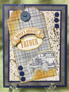 Stamp with Anna: Masculine Distressed Card, Stampin Up, Father's Day, Guy Greetings, Tim Holtz style