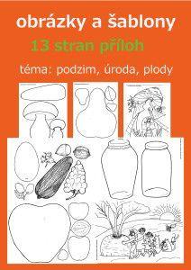 šablony - výtvarné návody a postupy na tvoření Art For Kids, Halloween, Preschool, Autumn, Templates, Activities, Puzzles, How To Make, Crafts