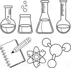 Colorea El material de laboratorio necesario para realizar