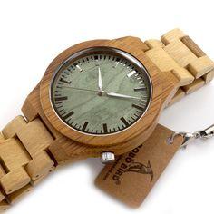 Bamboo Quartz Wristwatches //Price: $51.98 & FREE Shipping //     #beautiful #fashion #decoration