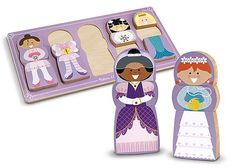 Melissa & Doug Mix-Match-Stack Chunky Puzzle-Dress Up 2nd Birthday Gifts, Melissa & Doug, Toy Rooms, Wooden Puzzles, Wooden Toys, Weighted Blanket, Sensory Toys, Puzzles For Kids, Creative Play