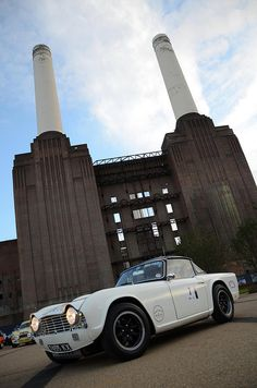 1963 Triumph TR4, Battersea power station in the background. Doesn't get much more British than that!