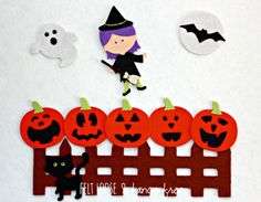Halloween 5 Little Pumpkins Felt Board / by FeltLooseFancyFree