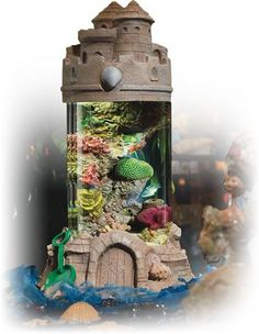 Acrylic castle fish tank