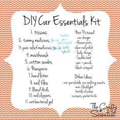 The Crafty Scientist: DIY Car Essentials Box car accessories Maserati Ghibli, Aston Martin Vanquish, Bmw I8, Box Tops, Ford Gt, Audi Tt, Porsche 911, Toyota, Volkswagen