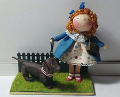 Marisa Madejón, Tumima Dolls - doll with toy dog.