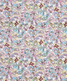 kawaii white Hello Kitty oxford fabric comic candy apple Sanrio Japan